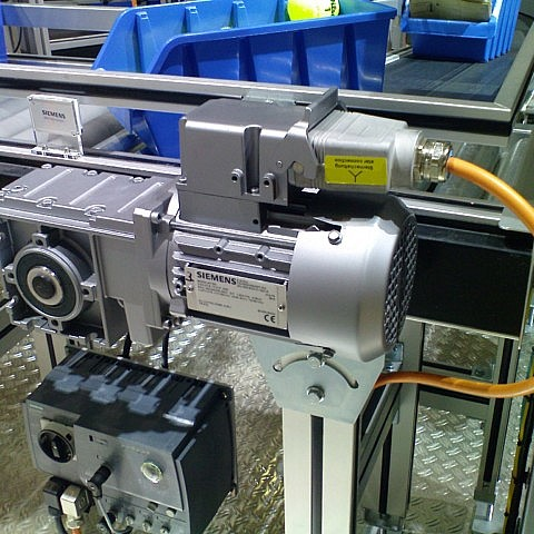 A typical example of an Intelligent Small Conveyor Drive System.