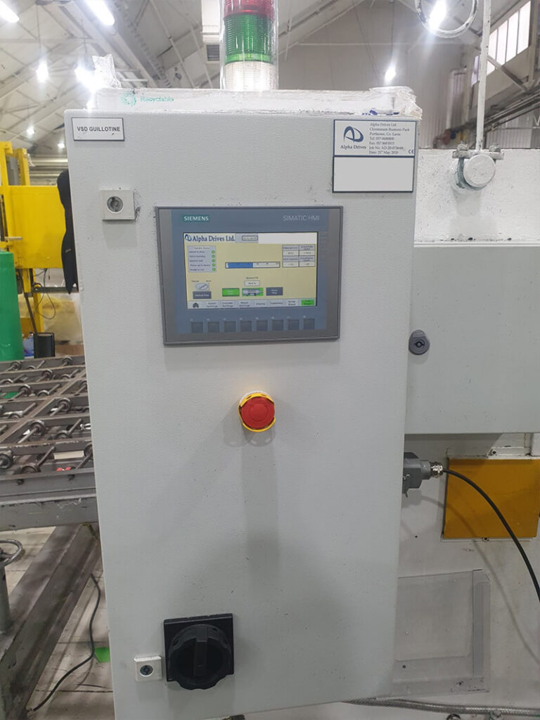 Alpha Drives upgrades old Guillotine machine with New Siemens Control Panel